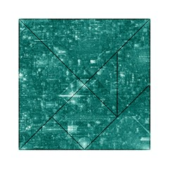 /r/place Emerald Acrylic Tangram Puzzle (6  X 6 ) by rplace