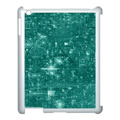 /r/place Emerald Apple Ipad 3/4 Case (white) by rplace