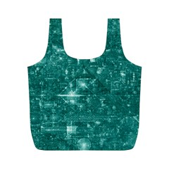 /r/place Emerald Full Print Recycle Bags (m)  by rplace