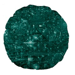 /r/place Emerald Large 18  Premium Flano Round Cushions by rplace