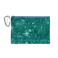 /r/place Emerald Canvas Cosmetic Bag (m) by rplace