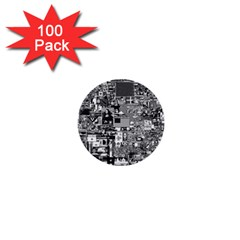 /r/place Retro 1  Mini Buttons (100 Pack)  by rplace