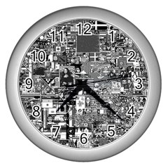 /r/place Retro Wall Clocks (silver)  by rplace