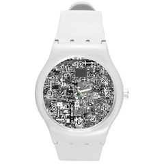 /r/place Retro Round Plastic Sport Watch (m) by rplace