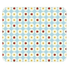 Ladybugs Pattern Double Sided Flano Blanket (small)  by linceazul