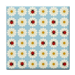 Ladybugs Pattern Tile Coasters by linceazul