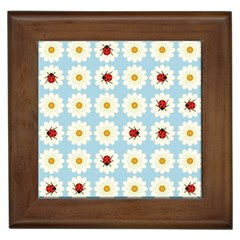 Ladybugs Pattern Framed Tiles by linceazul