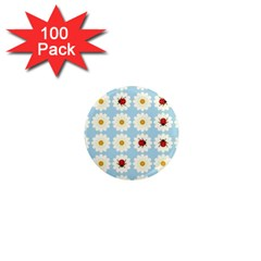 Ladybugs Pattern 1  Mini Magnets (100 Pack)  by linceazul