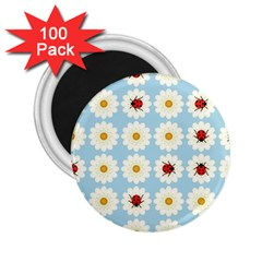 Ladybugs Pattern 2 25  Magnets (100 Pack)  by linceazul