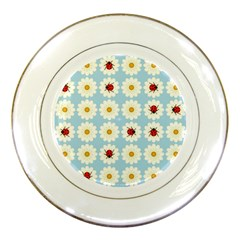 Ladybugs Pattern Porcelain Plates by linceazul