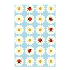 Ladybugs Pattern Shower Curtain 48  X 72  (small)  by linceazul