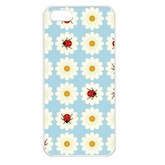 Ladybugs Pattern Apple Iphone 5 Seamless Case (white) by linceazul