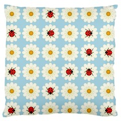 Ladybugs Pattern Large Flano Cushion Case (two Sides) by linceazul