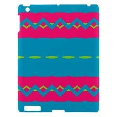 Blue Green Chains  Apple Ipad 3/4 Hardshell Case by LalyLauraFLM