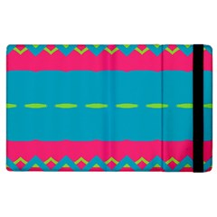 Blue green chains  Kindle Fire (1st Gen) Flip Case by LalyLauraFLM