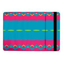 Blue Green Chains  Samsung Galaxy Tab Pro 8 4  Flip Case by LalyLauraFLM