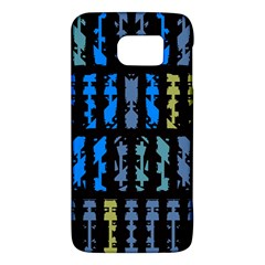 Blue Shapes On A Black Background  Htc One M9 Hardshell Case by LalyLauraFLM