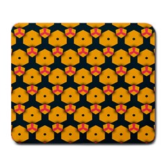Yellow Pink Shapes Pattern         Large Mousepad by LalyLauraFLM