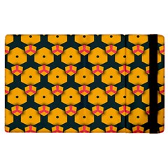 Yellow pink shapes pattern   Kindle Fire (1st Gen) Flip Case by LalyLauraFLM