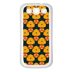 Yellow pink shapes pattern   Samsung Galaxy S7710 Xcover 2 Hardshell Case by LalyLauraFLM