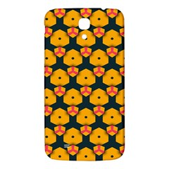 Yellow Pink Shapes Pattern   Samsung Galaxy Note 4 Pu Leather Hardshell Back Case by LalyLauraFLM