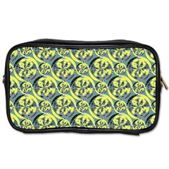 Black And Yellow Pattern Toiletries Bags 2 Side by linceazul
