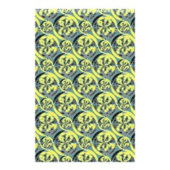 Black And Yellow Pattern Shower Curtain 48  X 72  (small)  by linceazul