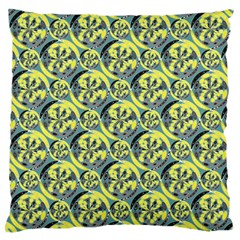 Black And Yellow Pattern Large Cushion Case (two Sides) by linceazul