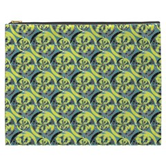Black And Yellow Pattern Cosmetic Bag (xxxl)  by linceazul