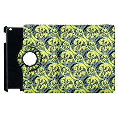 Black And Yellow Pattern Apple Ipad 2 Flip 360 Case by linceazul