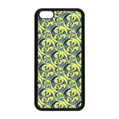 Black And Yellow Pattern Apple Iphone 5c Seamless Case (black) by linceazul