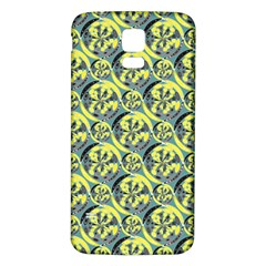 Black And Yellow Pattern Samsung Galaxy S5 Back Case (white) by linceazul