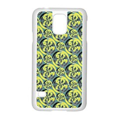 Black And Yellow Pattern Samsung Galaxy S5 Case (white) by linceazul