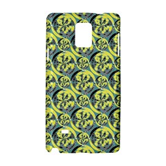 Black And Yellow Pattern Samsung Galaxy Note 4 Hardshell Case by linceazul