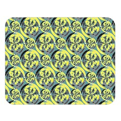Black And Yellow Pattern Double Sided Flano Blanket (large)  by linceazul