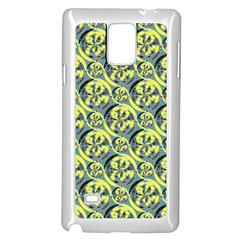 Black And Yellow Pattern Samsung Galaxy Note 4 Case (white) by linceazul