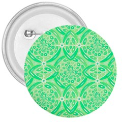 Kiwi Green Geometric 3  Buttons by linceazul