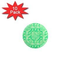 Kiwi Green Geometric 1  Mini Magnet (10 Pack)  by linceazul