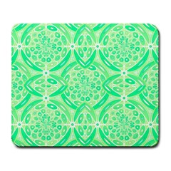 Kiwi Green Geometric Large Mousepads by linceazul