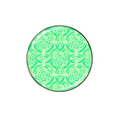 Kiwi Green Geometric Hat Clip Ball Marker (4 Pack) by linceazul
