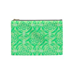 Kiwi Green Geometric Cosmetic Bag (medium)  by linceazul