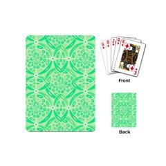 Kiwi Green Geometric Playing Cards (mini)  by linceazul