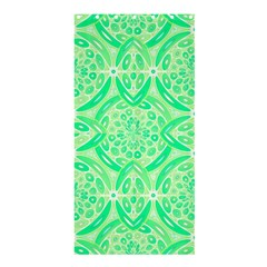Kiwi Green Geometric Shower Curtain 36  X 72  (stall)  by linceazul