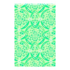 Kiwi Green Geometric Shower Curtain 48  X 72  (small)  by linceazul