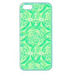 Kiwi Green Geometric Apple Seamless Iphone 5 Case (color) by linceazul