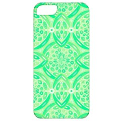 Kiwi Green Geometric Apple Iphone 5 Classic Hardshell Case by linceazul