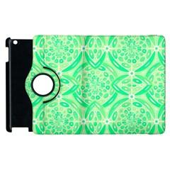 Kiwi Green Geometric Apple Ipad 3/4 Flip 360 Case by linceazul