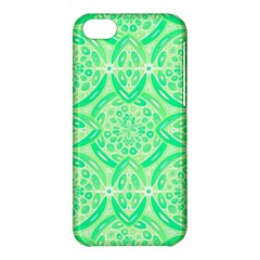Kiwi Green Geometric Apple Iphone 5c Hardshell Case by linceazul
