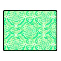 Kiwi Green Geometric Double Sided Fleece Blanket (small)  by linceazul