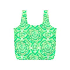 Kiwi Green Geometric Full Print Recycle Bags (s)  by linceazul